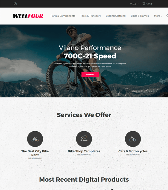 weelfour sports wordpress themes