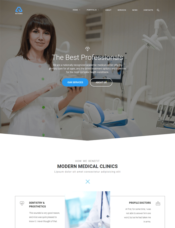 actema medical wordpress themes