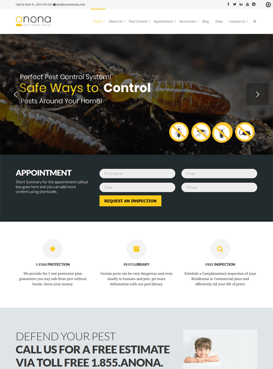 anona pest control wordpress themes