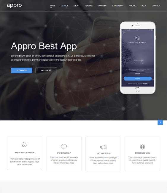 appro themes promoting apps