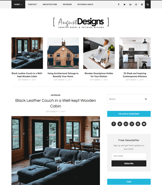 august muse interior design wordpress themes