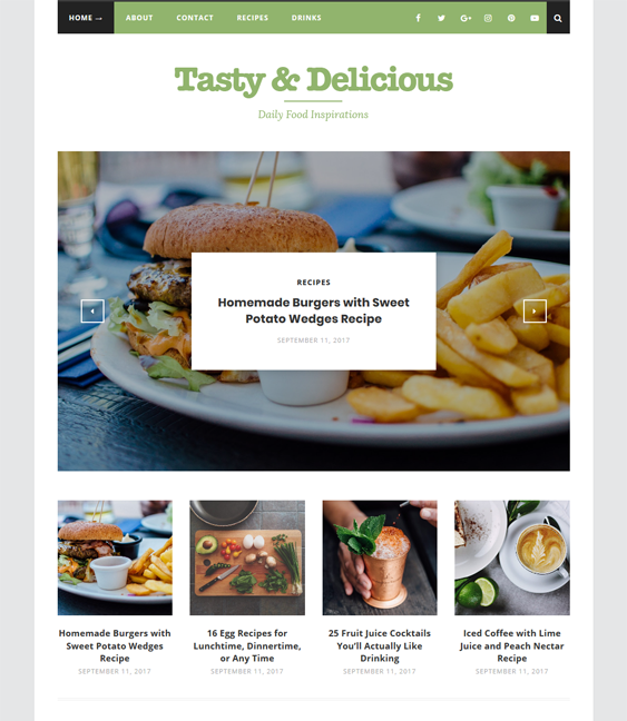 august food recipe wordpress themes