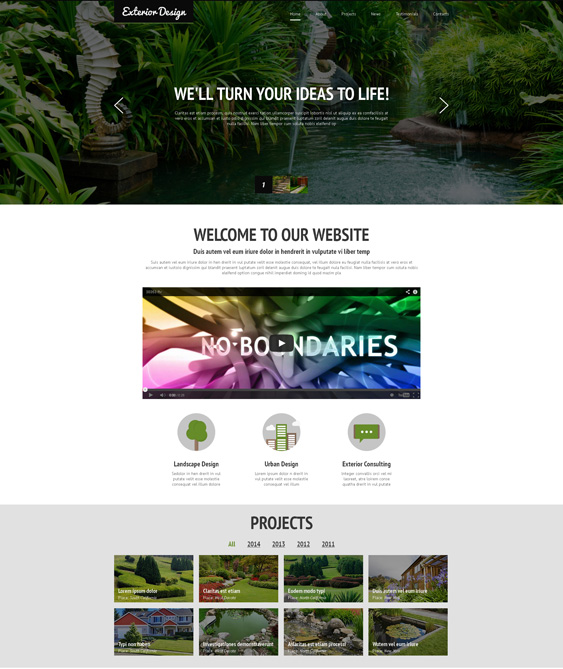 Designing Landscapes landscaper gardener joomla templates