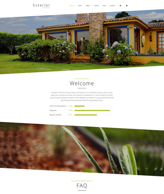 Exterior Design Studio landscaper gardener joomla templates