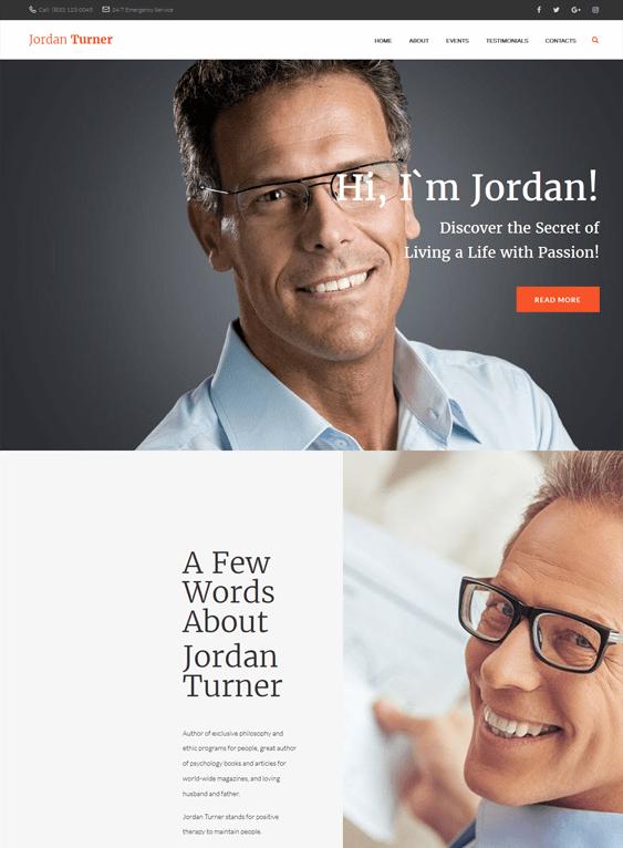 jordan life coach wordpress themes