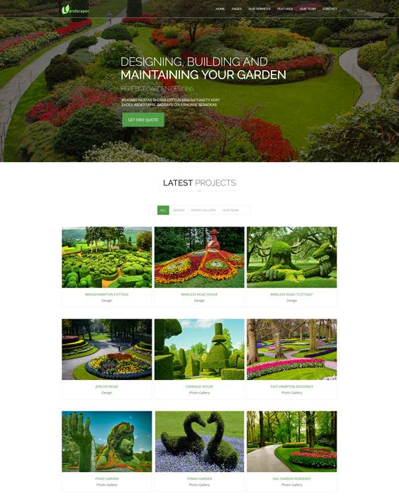 landscaper gardener joomla templates