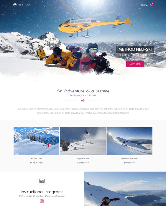 method travel wordpress theme
