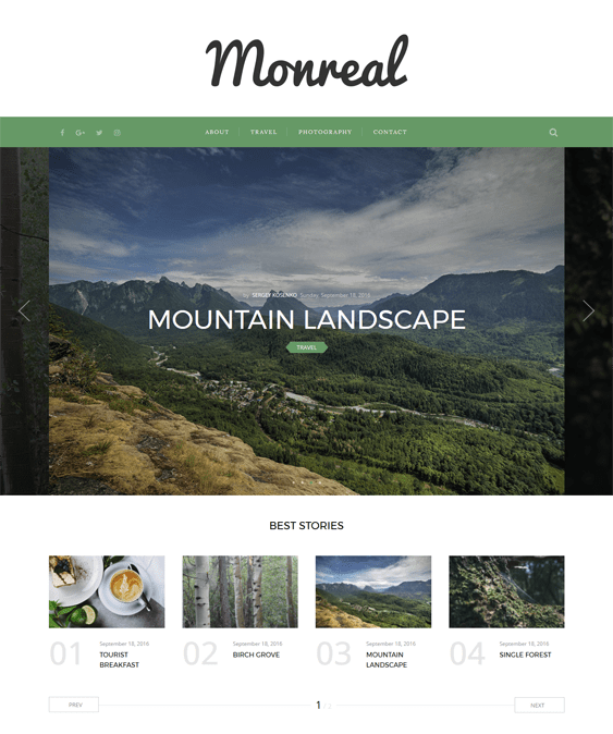 monreal travel wordpress theme
