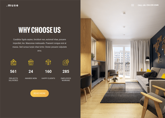 muse interior design wordpress themes