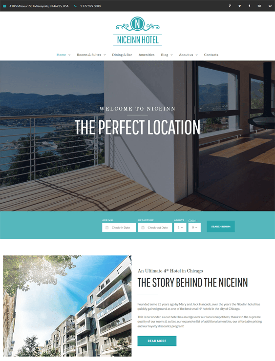 niceinn hotel wordpress themes