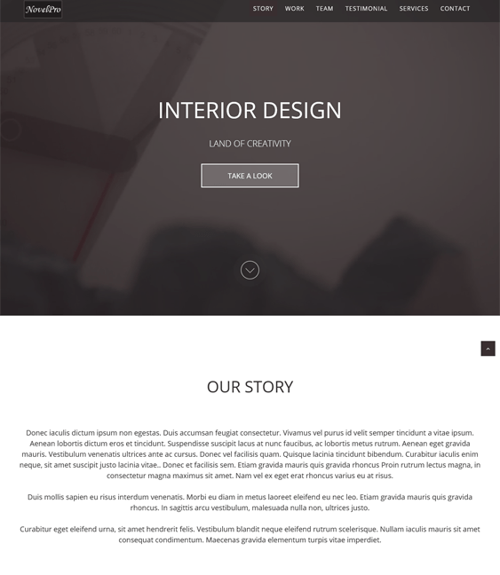 novelpro muse interior design wordpress themes