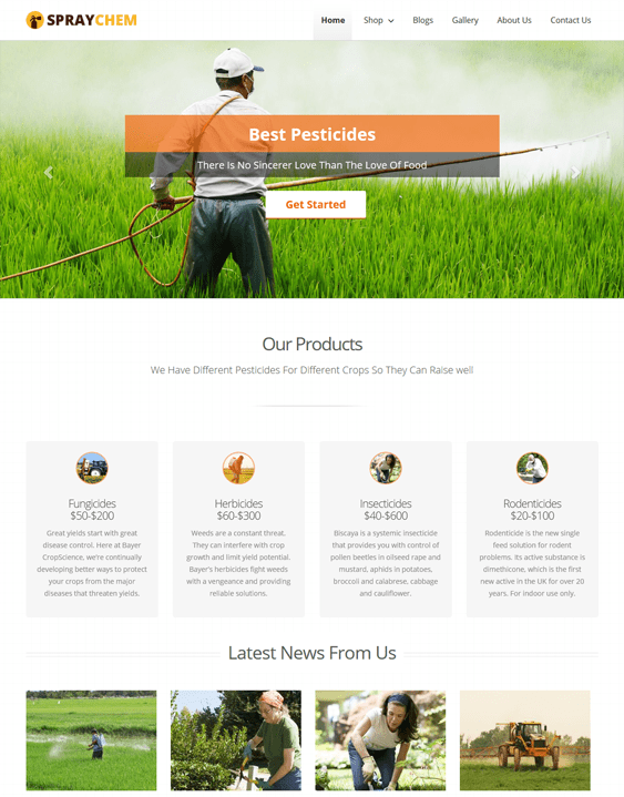 spraychem pest control wordpress themes