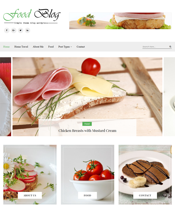 sterling food recipe wordpress themes