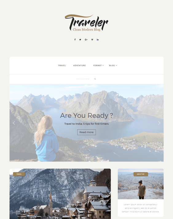 traveler travel wordpress theme