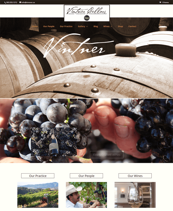 vintner food drink wordpress themes