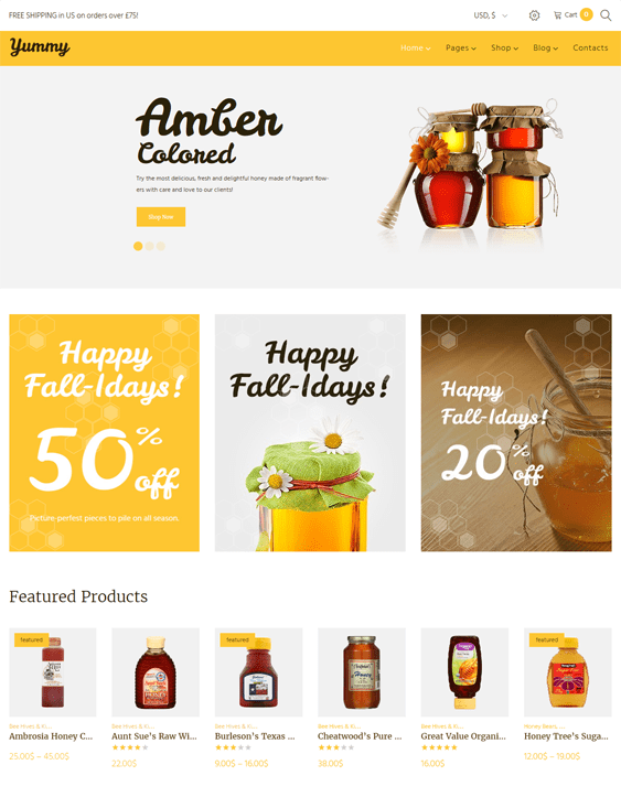 yummy food drink wordpress themes