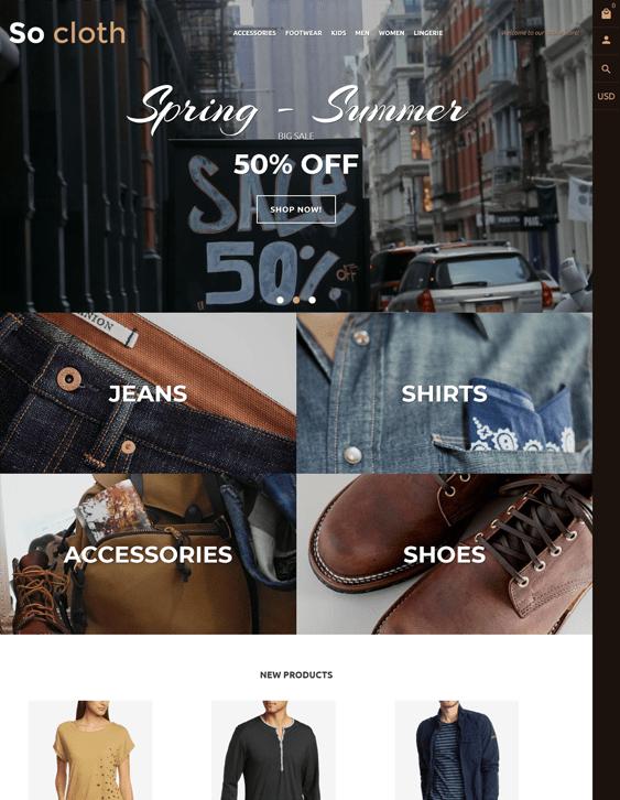 fashion shopify themes clothing stores