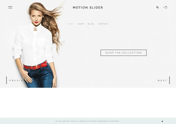 motionslider fashion shopify themes clothing stores