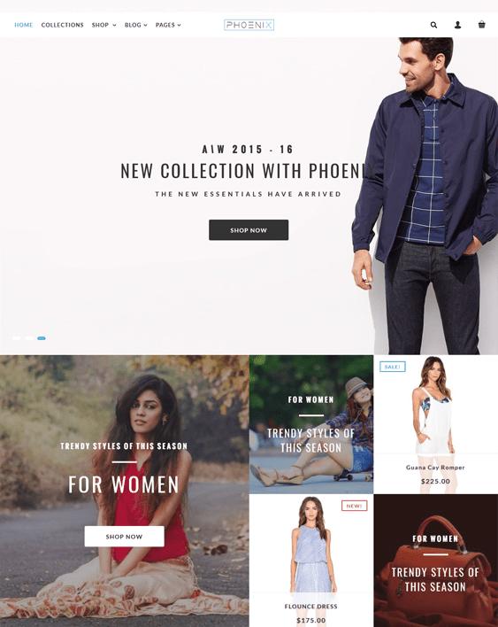 phoenix fashion shopify themes clothing stores