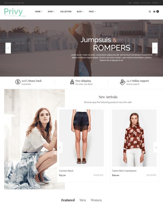 privy fashion shopify themes clothing stores