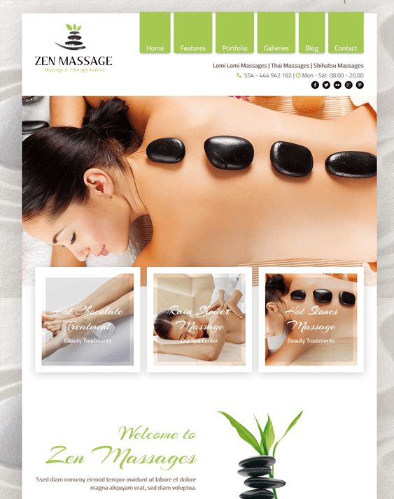 zen wordpress themes massage therapist masseur