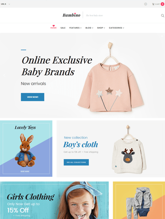 bambino kids wordpress themes