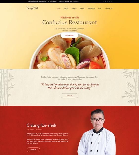 Chinese asian Restaurant Responsive WordPress Theme