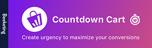countdown timer shopify apps plugins cart