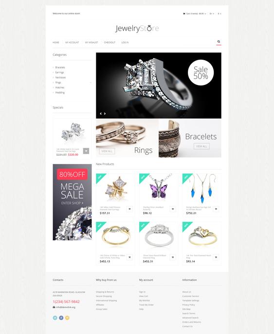 Fine Jewelry store Magento Theme