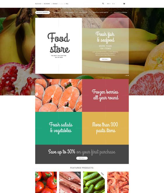 Food Store Magento Theme