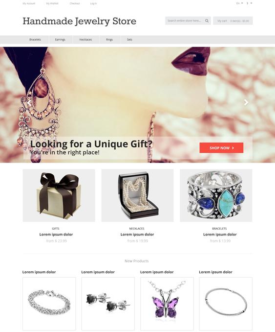 Handmade Jewelry store Magento Theme