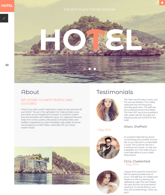 hotels joomla templates