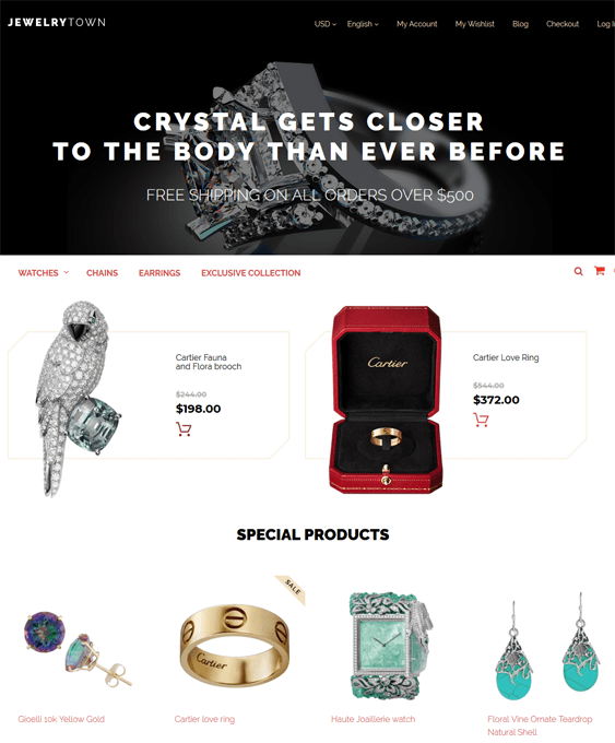 jewelrytown magento themes jewelry stores