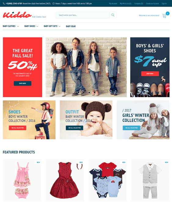 kiddo baby kids children Magento Themes