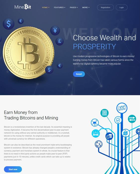 minebit bitcoin cryptocurrency websites wordpress themes