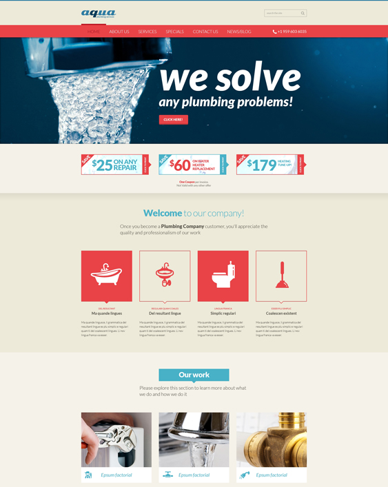 joomla template plumbing companies plumbers Services Online