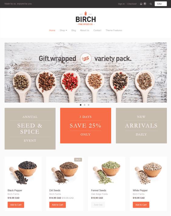 providence shopify themes spice shops