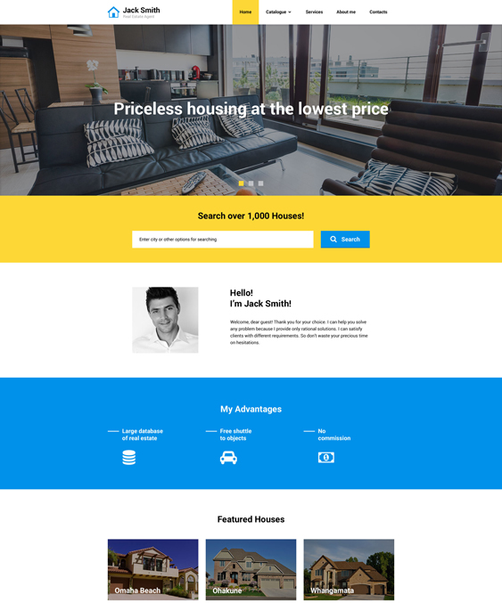 real estate bootstrap website templates Agency Responsive