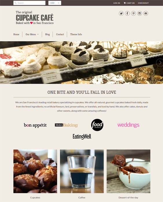 responsive bakeries cupcake shops bakery shopify themes