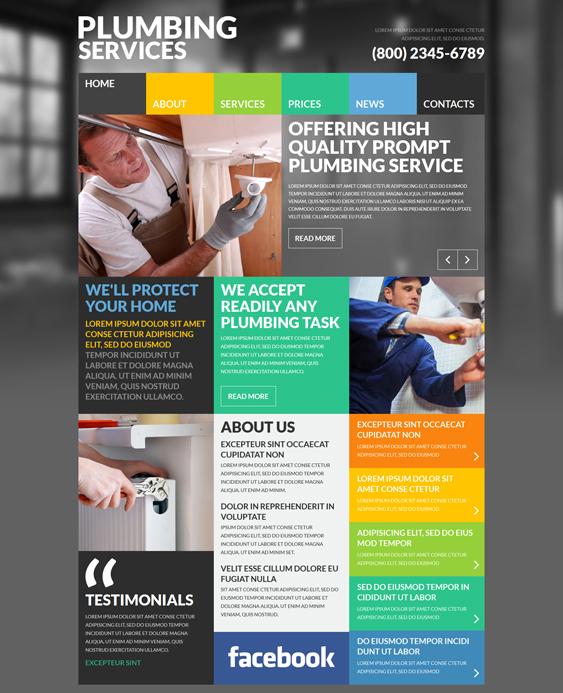 Skilled joomla template plumbing companies plumbers