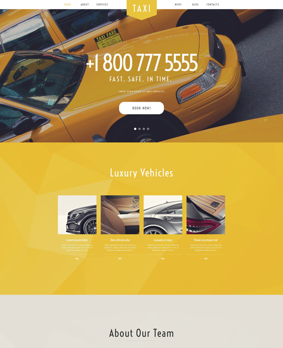 Taxi cab Services WordPress Theme