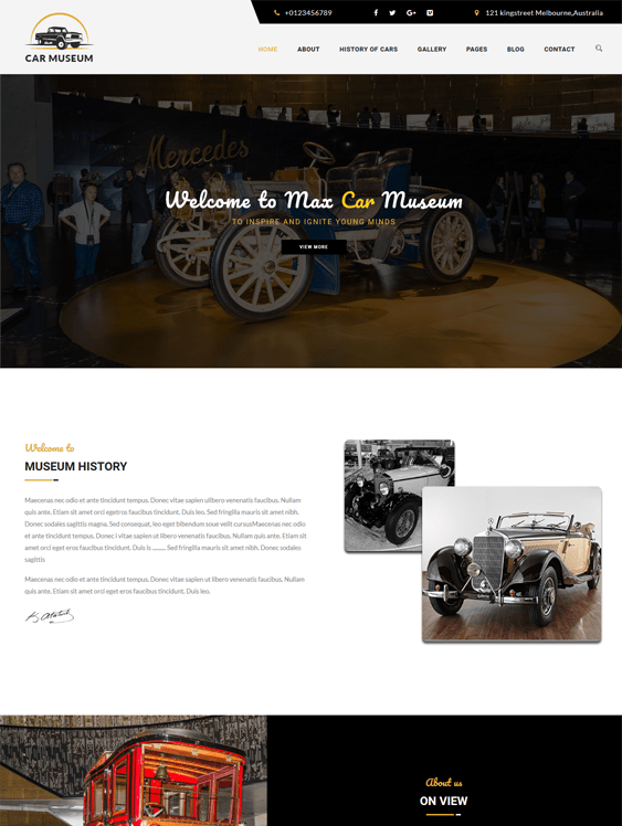 dizi museum wordpress themes