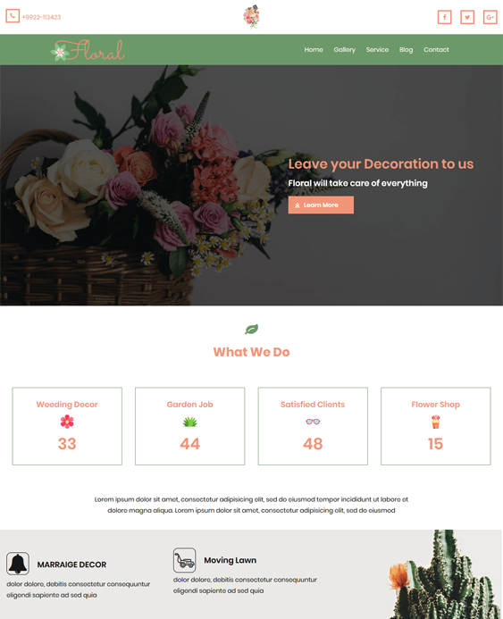 floral florist wordpress themes flower shops
