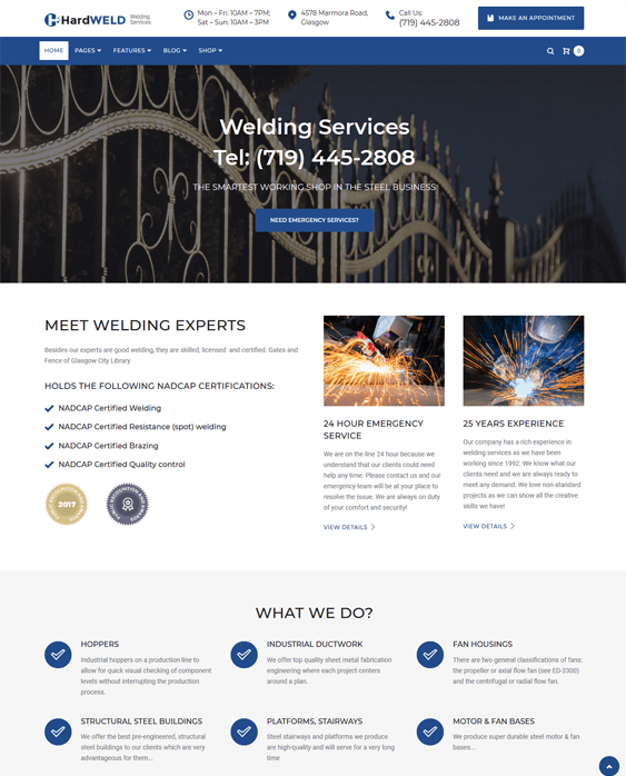 hardweld wordpress themes construction company building contractor
