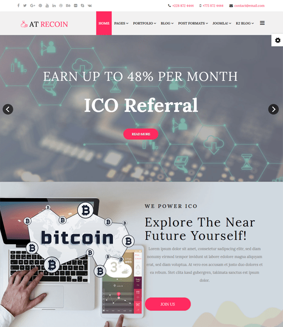 finance joomla templates financial websites