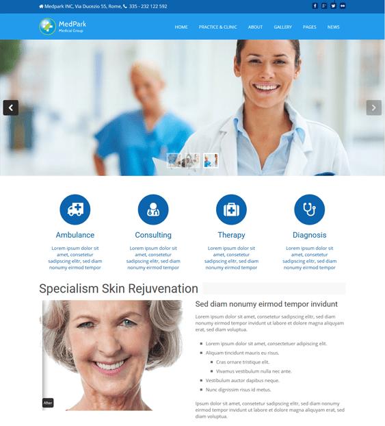 medical wordpress themes doctors clinics