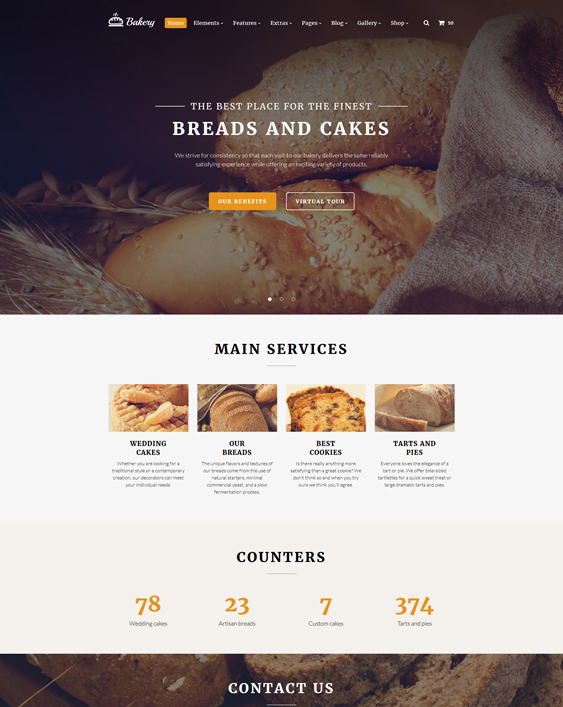 5 of the Best Bakery Bootstrap Website Templates – <br />down