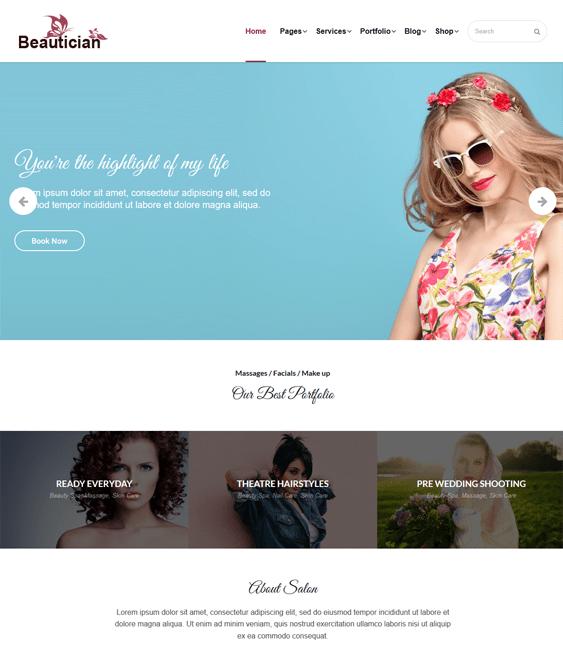 wordpress themes hair salons beauty spas
