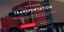 best bootstrap website templates transportation logistics shipping feature