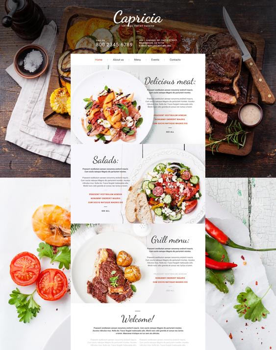 bootstrap website templates italian restaurants